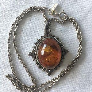Jewelry - Gypsy Boho Vintage 1980s Amber Necklace 🔮
